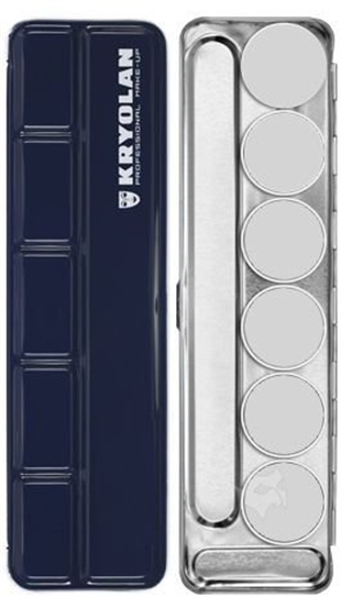 Kryolan Empty Make-Up Palette 6 Colors - Boş Palet 6lı