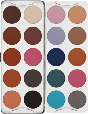 Kryolan Eye Shadow Palette Far Paleti