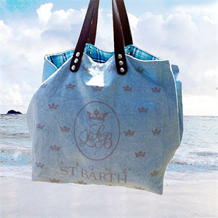 St Barth Light Blue Bag