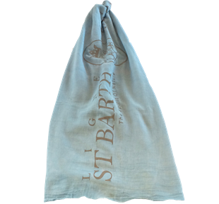 St Barth Light Blue Cotton Pareo